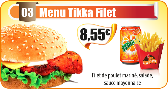 Menu Tikka Filet