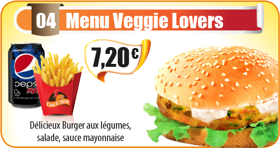 Menu Veggie Lovers