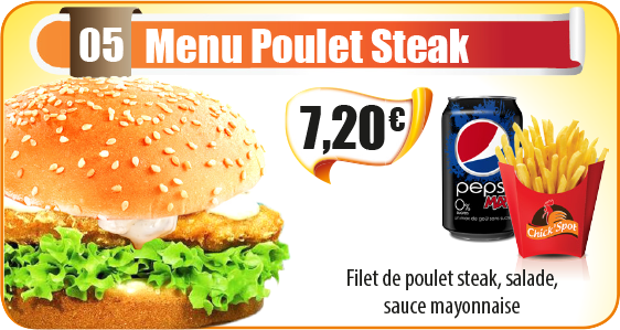 Menu Poulet Steak