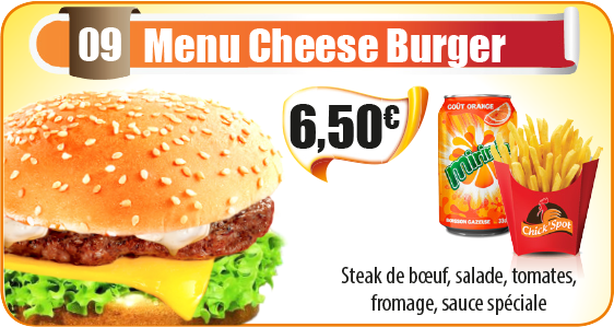 Menu Cheese Burger