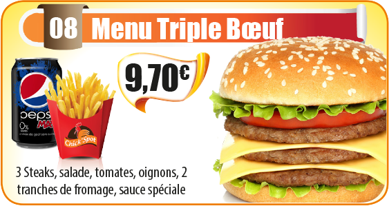 Menu Triple Bœuf
