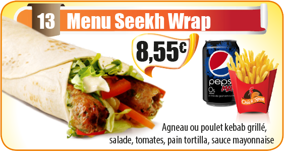 Menu Seekh Wrap