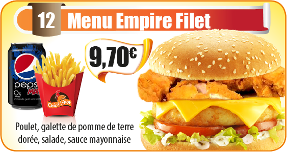 Menu Empire Filet
